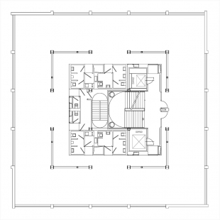 Rekonstrukce a dostavba BCB Pilsen - Typické patro - foto: 4A architekti