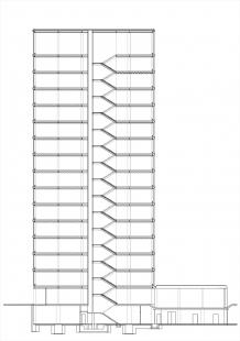 Rekonstrukce a dostavba BCB Pilsen - Řez - foto: 4A architekti