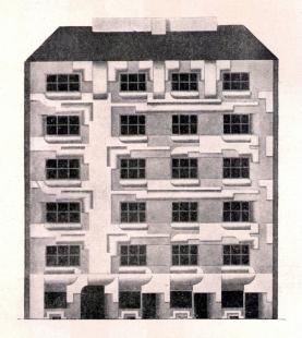 Návrhy architektury - Studie domovního průčelí (klausurní práce), kolem roku 1920 - foto: archiv redakce
