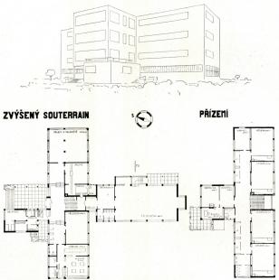 Návrhy architektury - Soutěžní návrh na dívčí školy v Rokycanech, 1927 - foto: archiv redakce