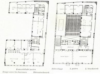 Návrhy architektury - Návrh na budovu ČTK v Praze, 1927 (spolupráce Josef Havlíček, Karel Honzík, Evžen Linhart a Pavel Smetana) - foto: archiv redakce