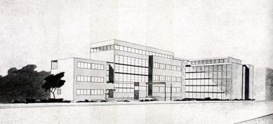 Návrhy architektury - Soutěžní návrh (I. cena) na budovu Zemského archivu v Praze, 1929 - foto: archiv redakce