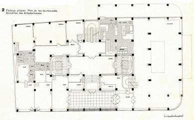 Administrativní budova pojišťovny Merkur v Praze - Půdorys přízemí - foto: archiv redakce
