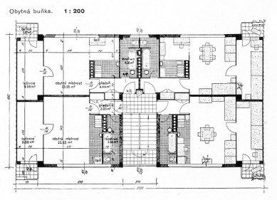 Domy pro chudé pražské obce v Praze - Půdorys jednoho domu - foto: archiv redakce