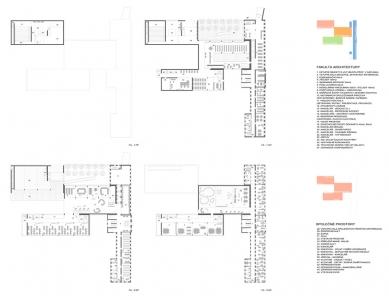 Architektonická studie FaVU a FA VUT - Půdorysy FA - foto: © fam architekti, 2007