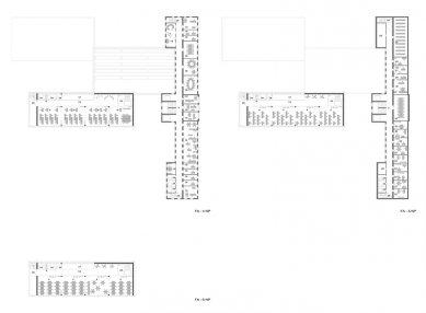 Architektonická studie FaVU a FA VUT - Půorysy FA - foto: © fam architekti, 2007