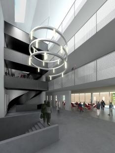 Architektonická studie FaVU a FA VUT - Vstupní dvorana FaVU - foto: © fam architekti, 2007