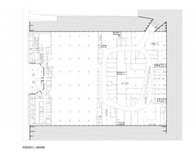 Obchodní centrum Šestka - Půdorys 1. úrovně - foto: © DNA architekti