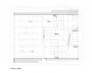 Obchodní centrum Šestka - Půdorys 2. úrovně - foto: © DNA architekti