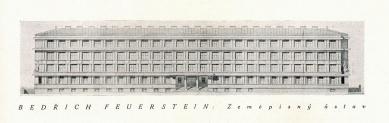 Vojenský zeměpisný ústav - Výkres čelní fasády - foto: archiv redakce