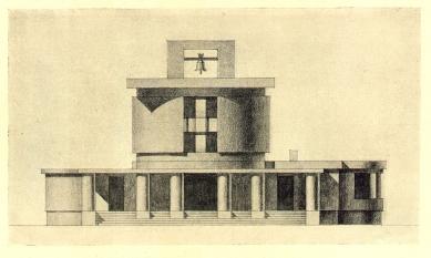 Městské krematorium v Nymburku - Čelní fasáda - foto: archiv redakce