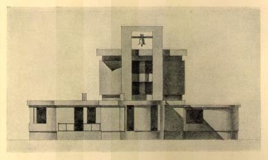 Městské krematorium v Nymburku - Zadní fasáda - foto: archiv redakce