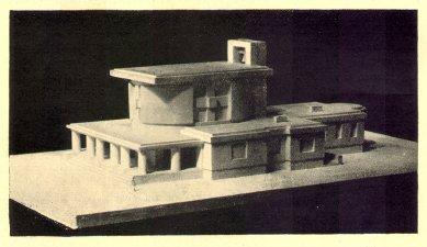 Městské krematorium v Nymburku - Model zepředu - foto: archiv redakce