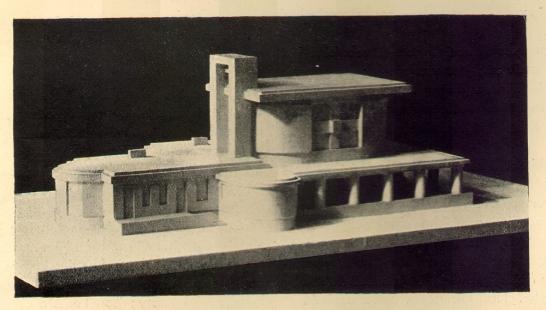 Městské krematorium v Nymburku - Model zezadu - foto: archiv redakce