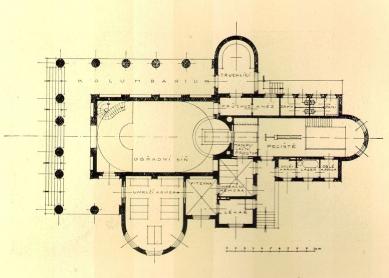 Městské krematorium v Nymburku - Půdorys - foto: archiv redakce