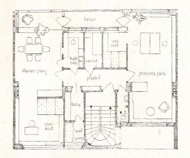 Dům Karla Teigeho - Půdorys - foto: archiv redakce