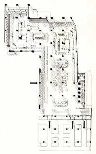 Interiéry obchodního domu Bílá labuť - Axonometrie vstupního podlaží - foto: archiv redakce
