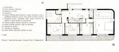 Rodinný dům M. Friče - Půdorys přízemí - foto: archiv redakce