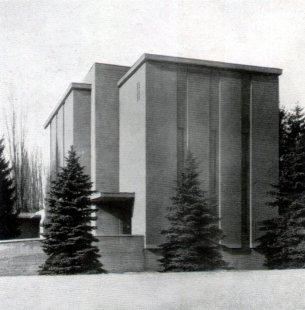 Obřadní síň Ústředního hřbitova v Brně - foto: archiv redakce