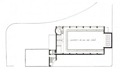 Soutěžní návrh na Husův sbor v Brně - půdorys patra - foto: archiv redakce