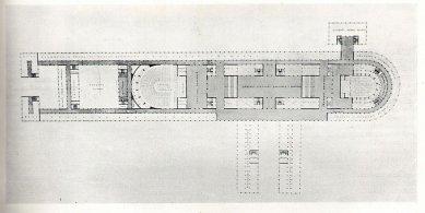 Projekt budovy parlametu na Letné - Půdorys - foto: archiv redakce