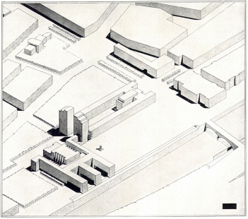 Návrh na budovu ministerstva veřejných prací - Axonometrie - foto: archiv redakce