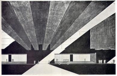 Návrh na budovu ministerstva veřejných prací - Perspektiva - foto: archiv redakce