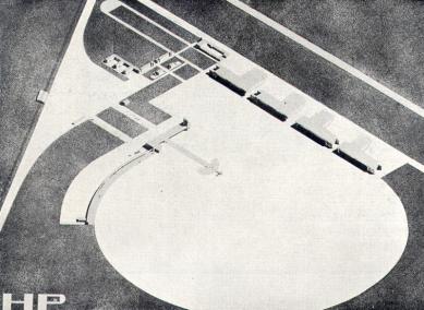 Soutěžní návrh letiště v Praze-Ruzyni - Axonometrie areálu - foto: archiv redakce
