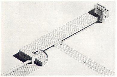 Soutěžní návrh letiště v Praze-Ruzyni - Axonometrie letištní haly - foto: archiv redakce