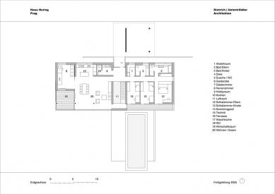 Rodinný dům v Lipanech - Půdorys přízemí - foto: © dietrich | untertrifaller architekten