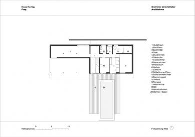 Rodinný dům v Lipanech - Půdorys suterénu - foto: © dietrich | untertrifaller architekten