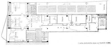 Obchodní dům Rodinger - Půdorys patra - foto: archiv redakce