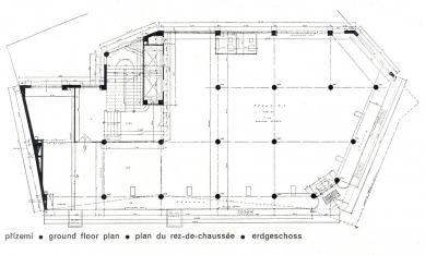 Dům obuvi Baťa - Půdorys přízemí - foto: archiv redakce