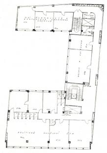 Soutěžní projekt Pragoradia a ČTK - Půdorys kancelářského patra - foto: archiv redakce