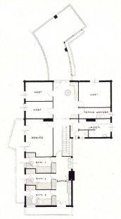 Letní dům Dra Svojsíka v Dobřichovicích - Půdorys patra - foto: archiv redakce