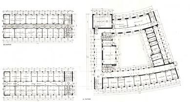 Budova pošty a telegrafu, dnes okresní úřad - Půdorys 2. a 3. patra - foto: archiv redakce