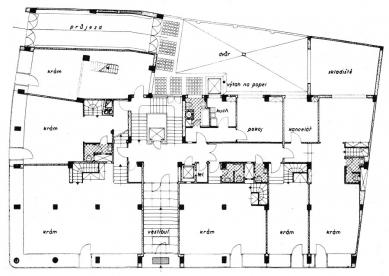 Nájemní dům  - Půdorys přízemí - foto: archiv redakce