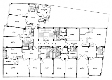 Nájemní dům  - Půdorys typického patra - foto: archiv redakce