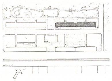 Obytné domy pro chudé obce pražské v Libni - Situace - foto: archiv redakce