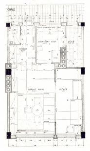 Obytné domy pro chudé obce pražské v Libni - Typický půdorys obytné buňky - foto: archiv redakce