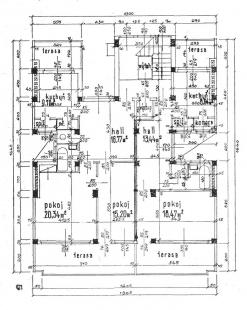 Nájemní bytový dům pí Kreisingerové - Půdorys ustupujícího patra - foto: archiv redakce
