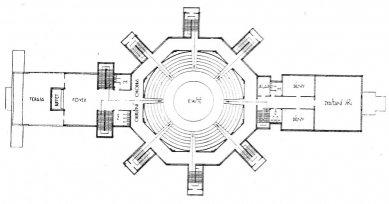 Projekt Osvobozeného divadla - Půdorys divadla - foto: archiv redakce