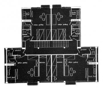 Soutěž na domy s nejmenšími byty na Břevnově - Typický půdorys patra - foto: archiv redakce