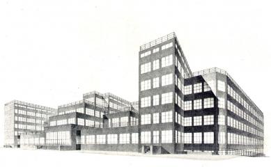 Projekt ústřední budovy elektrických podniků hl. města Prahy - Perspektiva - foto: archiv redakce