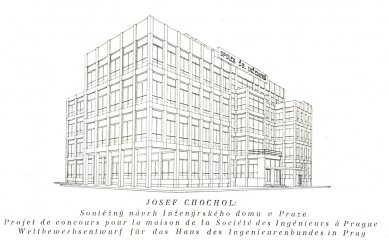 Soutěží návrh Inženýrského domu v Praze - Perspektiva - foto: archiv redakce