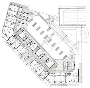 Domy Zemské banky - Skleněný palác - Půdorys přízemí - foto: archiv redakce