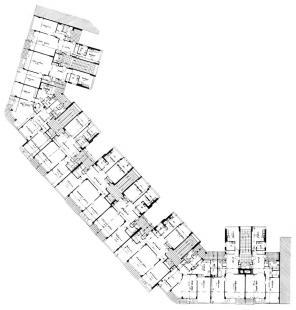 Domy Zemské banky - Skleněný palác - Půdorys typického patra - foto: archiv redakce