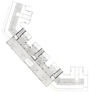 Domy Zemské banky - Skleněný palác - Půdorys střešní terasy - foto: archiv redakce