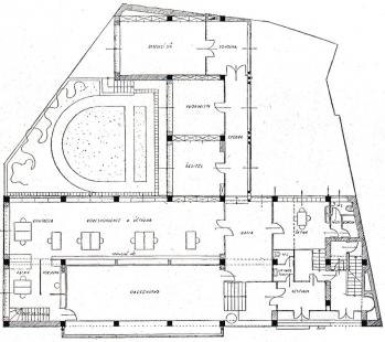 Městská spořitelna v Tišnově - půdorys přízemí - foto: archiv redakce