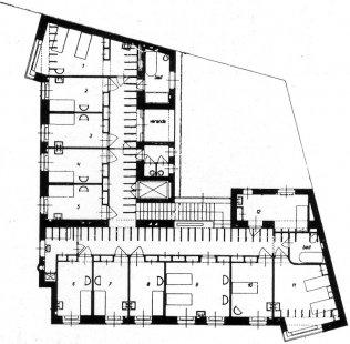 Kropáčovo sanatorium - půdorys - foto: archiv redakce